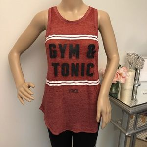 Victoria's Secret PINK Gym & Tonic Distressed Tank